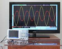 ADS-2322 Digital Storage Oscilloscope - connected to a TV