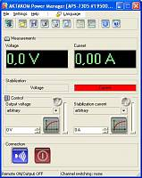 APS-3320L DC Power Supply - Aktakom Power Manager software