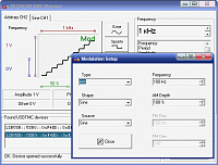 AKTAKOM AWG Manager Application Software - Modulation setup