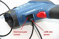 ATE-2561 InfraRed Video Thermometer - USB and thermocouple sockets