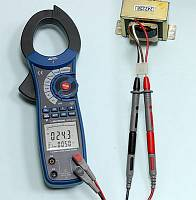 ACM-2353 Clamp Meter - AC Voltage (main display) + Frequency (secondary display) Measurement